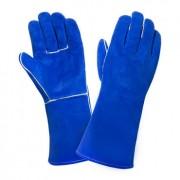 Краги сварщика спилковые утеплённые (цвет синий)
