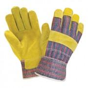 Перчатки комбинированные (спилок + ткань)