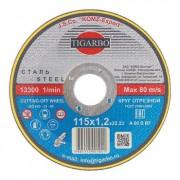 Диск 115x1,6x22 мм отрезной по металлу - Абразивный круг Тигарбо