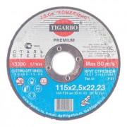 Диск 115x2,5x22 мм отрезной по металлу - Абразивный круг Тигарбо