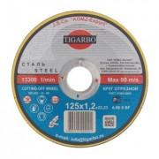 Диск 125x1,0x22 мм отрезной по металлу - Абразивный круг Тигарбо